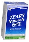 Tears Naturale Free Lubricant Eye Drops Single Use Vials 60ct