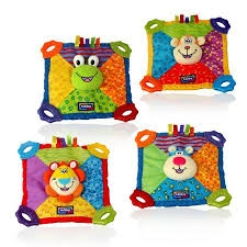 Nuby Plush Teether Blankie, Patterns May Vary- 1ct ** Extended Lead Time**