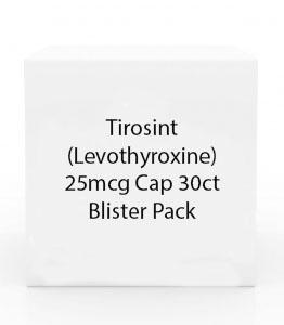 Levothyroxine 25mcg Cap 28ct Blister Pack