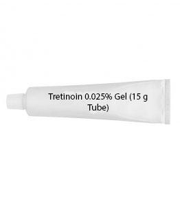 Tretinoin 0.025% Gel (15 g Tube)