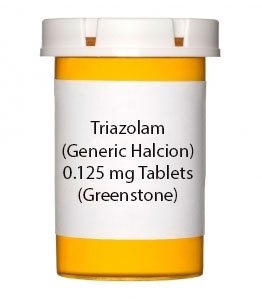 Triazolam (Generic Halcion) 0.125 mg Tablets (Greenstone)