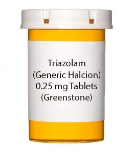 Triazolam (Generic Halcion) 0.25 mg Tablets (Greenstone)