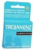 Trojan-Enz Condoms Lubricated Latex 3 ct