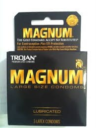 Trojan Magnum Condoms Lubricated 3 ct