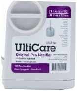 "UltiCare Pen Needle Original 29 Gauge 1/2"" (12mm) - 100 Count Box"