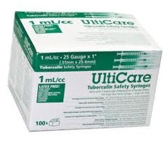 "UltiCare TB Syringe 25 Gauge, 1cc, 1"" Needle - 100 Count"