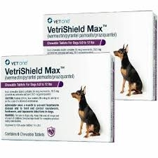 VetriShield Max Chewable Tablets  For Dogs 6 to 12 Pounds (Purple)