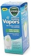 Vicks Vapors Mini Waterless Vaporizer with Nightlight Menthol Scent