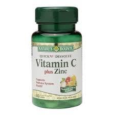 Nature's Bounty Quick Dissolve Vitamin C plus Zinc Tablets with Natural Citrus Flavor - 60ct