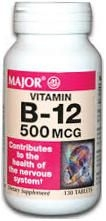 Vitamin B-12 500 mcg - 130 Tablets