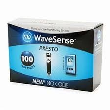 WaveSense Presto Diabetic Test Strips - 100 Strip Box