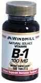 Windmill Vitamin B-1 100 mg Tablets 100ct