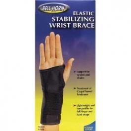 Elastic Stabilizing Wrist Brace (Black) Right - Medium