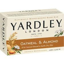 Yardley of London Oatmeal and Almond Bath Bar Soap - 4.25oz