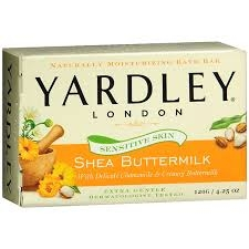 Yardley of London Shea Buttermilk Bath Bar Soap- 4.25oz