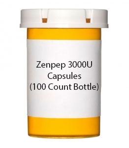 Zenpep 3000U Capsules (100 Count Bottle)