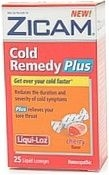 Zicam Cold Remedy Plus Liqui-Loz Cherry Flavor 25ct