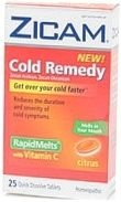 Zicam Cold Remedy Rapid Melts (Citrus) - 25 Melts