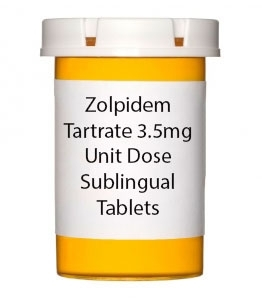 Zolpidem Tartrate 3.5mg Unit Dose Sublingual Tablets
