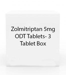 Zolmitriptan 5mg ODT Tablets- 3 Tablet Box