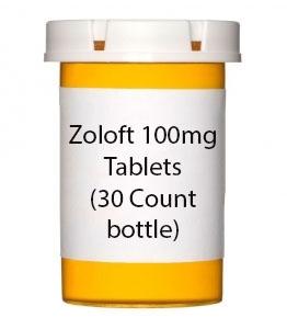 Zoloft 100mg Tablets (30 Count bottle)