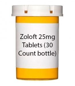 Zoloft 25mg Tablets (30 Count bottle)