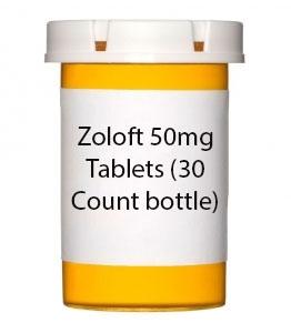 Zoloft 50mg Tablets- 30ct Bottle