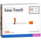 EasyTouch Insulin Syringe 28 Gauge, 1cc, 1/2