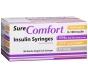 """SureComfort Insulin Syringe 31 Gauge, 3/10cc, 5/16"""" Needle - 100 Count"""