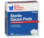 GNP First Aid Sterile Gauze Pad, 2x2 Inch 10ct
