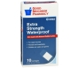 """GNP First Aid Extra Strength Waterproof Bandage, 2"""" x 4"""", 10ct"""