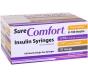 """SureComfort U-100 Insulin Syringes 31 Gauge, 3/10cc, 1/4""""- 100ct"""