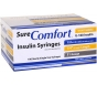 """SureComfort U-100 Insulin Syringes 31 Gauge, 1/2cc, 1/4""""- 100ct"""