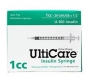 "Ulticare Insulin Syringes 29 Gauge, 1cc, 1/2""- 100ct"