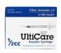 "Ulticare Insulin Syringes 30 Gauge, 1/2cc, 1/2""- 100ct"