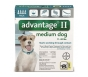 Advantage II  (For Medium Dogs, 11-20 lbs) - 4 Pack (Teal)