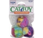 Vo-Toys Plush N' Fuzzy Balls Durable Cat Toy - 3ct