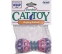 Vo-Toys Jingling Barbell Durable Cat Toy