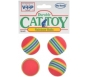 Vo-Toys Rainbow Balls Durable Cat Toy - 4ct