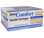 """SureComfort Insulin Syringe 31 Gauge, 1/2cc, 5/16"""" Needle - 100 Count"""