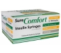 """SureComfort Insulin Syringe 31 Gauge, 1cc, 5/16"""" Needle - 100 Count"""