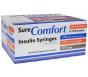 """SureComfort Insulin Syringe 29 Gauge, 1/2cc, 1/2"""" Needle - 100 Count"""