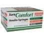"""SureComfort Insulin Syringe 28 Gauge, 1cc, 1/2"""" Needle - 100 Count"""