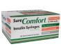"SureComfort Insulin Syringe 30 Gauge, 1cc, 1/2"", 100 Count"
