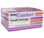 """SureComfort Insulin Syringe 30 Gauge, 3/10cc, 1/2"""" Needle - 100 Count"""