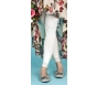 Foot Traffic Microfiber Leggings with Lace Trim, Ivory