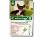 Advantage II  (For Small Dogs, 10 lbs & Under) - 4 Pack (Green)