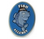 "AllerMates Fish Allergy Charm for Multi-Allergy Wristband - ""Detective Fin"""