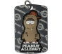 "AllerMates Peanut Allergy Alert Tag Plus Ball Chain - Silver, ""P. Nutty"""