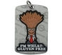 "AllerMates Wheat/Gluten Allergy Alert Tag Plus Ball Chain - Silver, ""Professor Wheatley"""